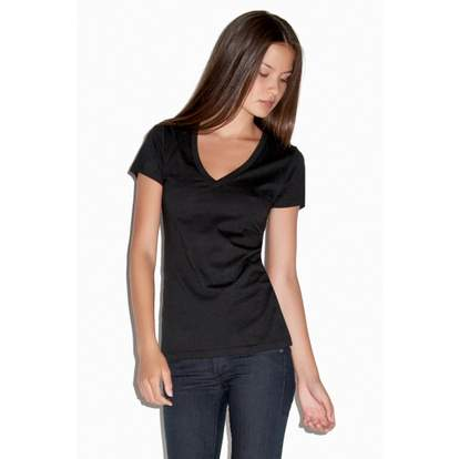 Deep V-Neck Jersey T-Shirt